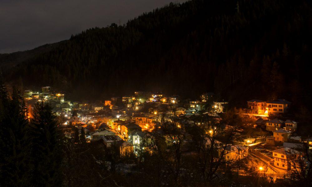 Широка лъка вечер, нощна снимка на Широка лъка